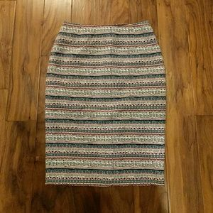 The Limited | Patterned Pencil Skirt | Size 8